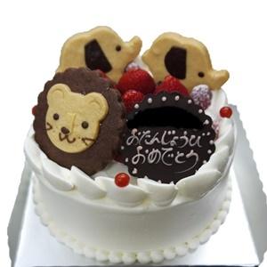 アニマルクッキーでオリジナルなケーキ
