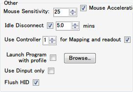 DS4Windows バージョン 1.4.52 コントローラー全体の設定機能、マウス感度の変更、アイドル時のコントローラー自動切断機能、プロファイル選択時のプログラム自動起動設定、Direct Input 方式への変更