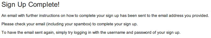 InputMapper 広告をオフにするため寄付(Donate)する方法、Sign Up Complete 画面、登録したメールに認証コード用 URL が届くので開く
