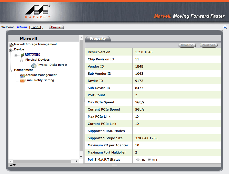 P8Z68-V PRO/GEN3 Marvell コントローラー(Marvell 88SE9172) 情報とドライバーバージョン