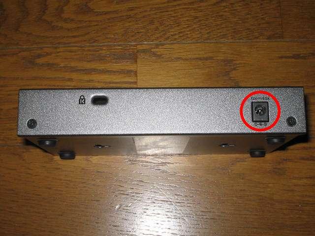 NETGEAR ネットギア アンマネージプラススイッチ ギガ 8ポート スイッチングハブ 管理機能付 無償永久保証 GS108E-300JPS 電源アダプター差し込み穴