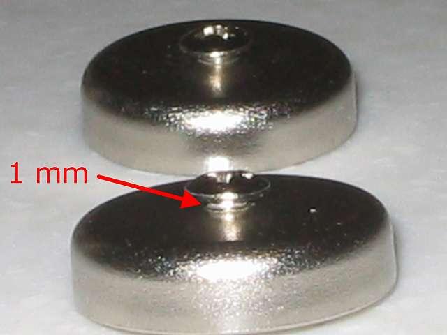 オーム電機 フック穴付きタップ用マグネット 超強力タイプ HS-A0166 丸型 ネジ頭の隙間 1mm