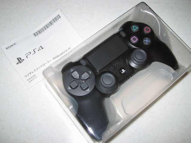 新型 PS4 DUALSHOCK 4 Wireless Controller ワイヤレスコントローラー ジェット・ブラック CUH-ZCT2J 開封、取扱説明書とコントローラー本体