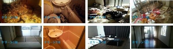 ゴミ屋敷・汚部屋清掃の事例