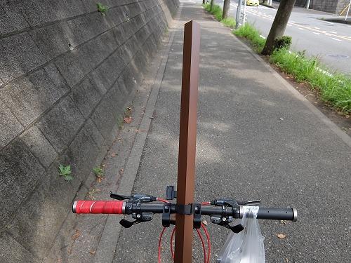 自転車用自撮り棒・・・