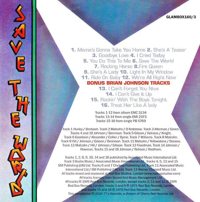 Geordie / The Albums Disc3(裏)