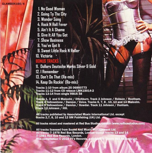 Geordie / The Albums Disc4(裏)