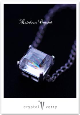 レインボー水晶スクエアブレスレット