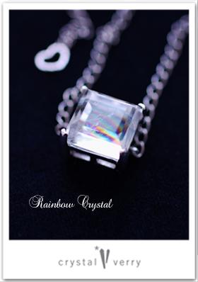 虹入り水晶のルース