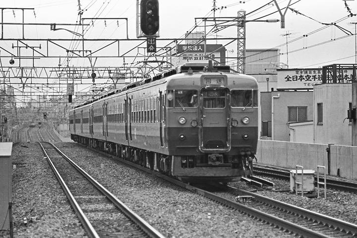 1987高円寺_165系回送列車