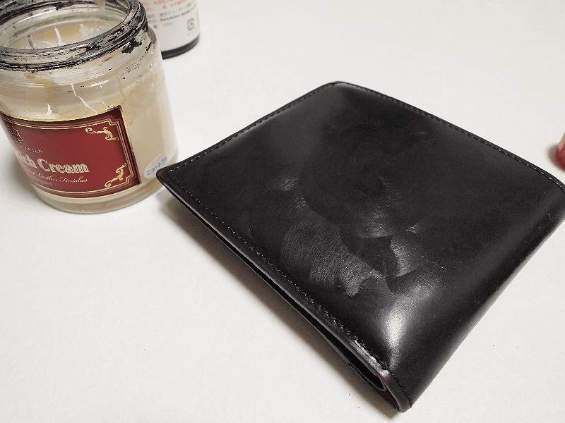 20160612コードバン財布ワックス中