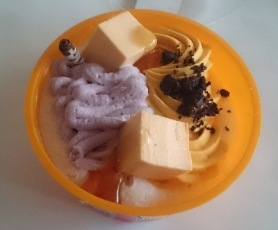 かぼちゃと紫芋のパフェ02