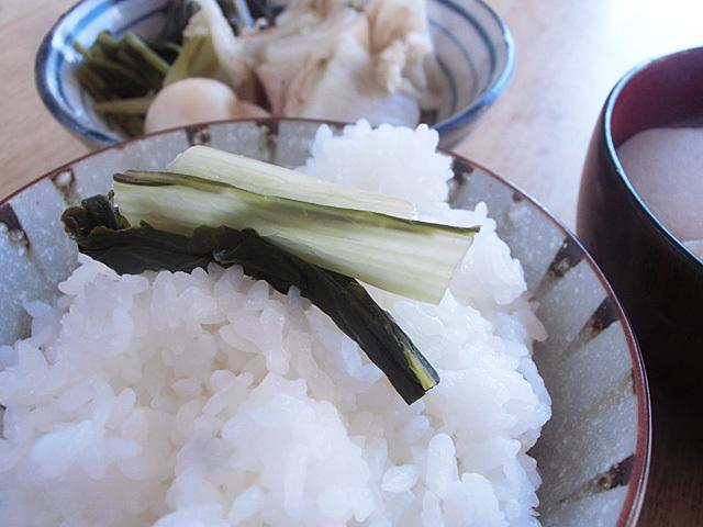 漬物で米を食う