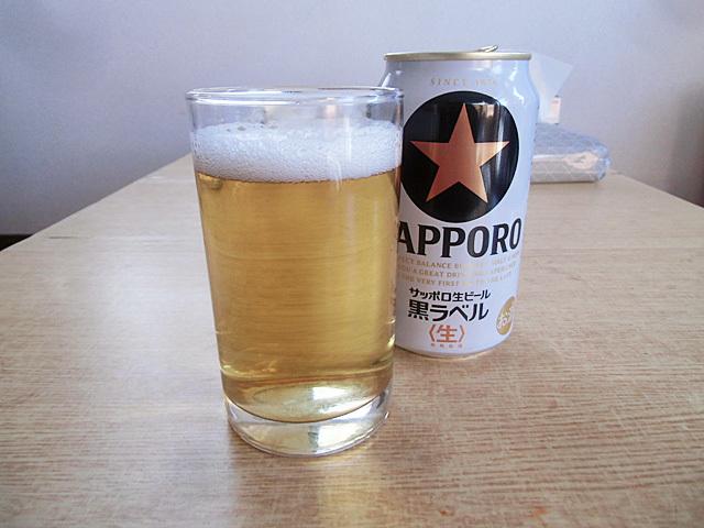 朝一番のビール