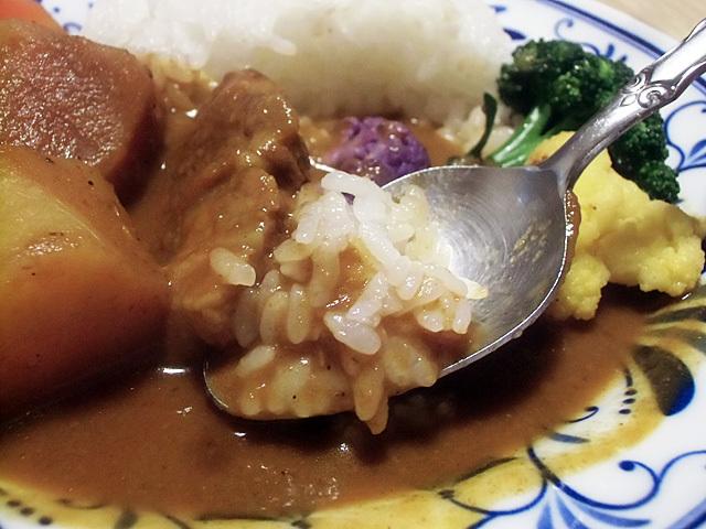 米に吸わせて食べる