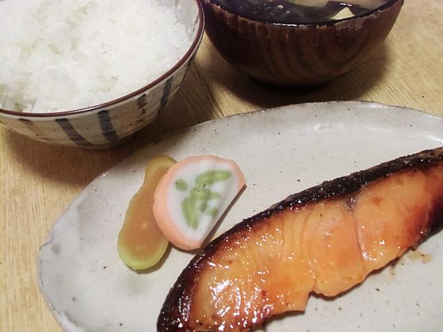 鮭の粕漬定食