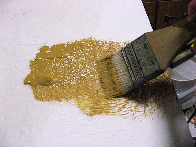 水性アクリル塗料で塗装