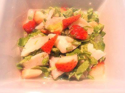 タラと苺のご飯