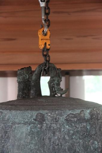 重要文化財の朝鮮鐘の釣り手付近