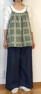 大川友美さんパターン タック&ギャザーキャミソール