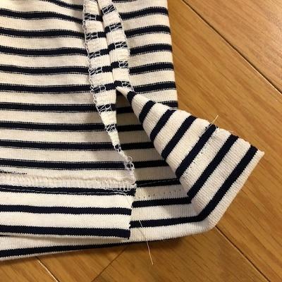 裏テープ始末のスリットの縫い方