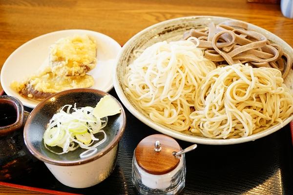 【そば処弁慶】三色天せいろ+さつま芋天ぷら