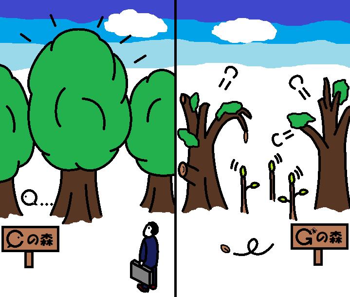 441つちのこ巨木は引き抜かれる1