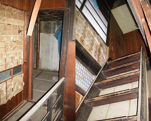 川越織物市場・階段