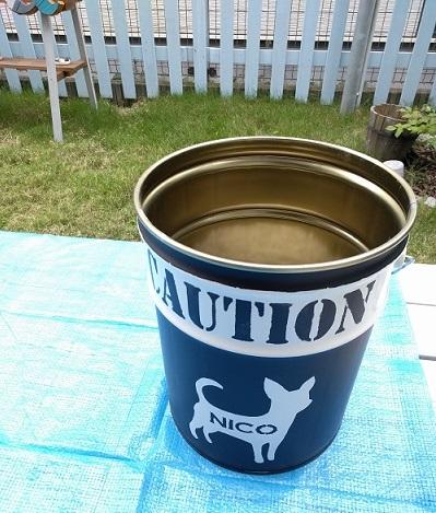 リメイクしたペール缶にウンベラータを植替完了!