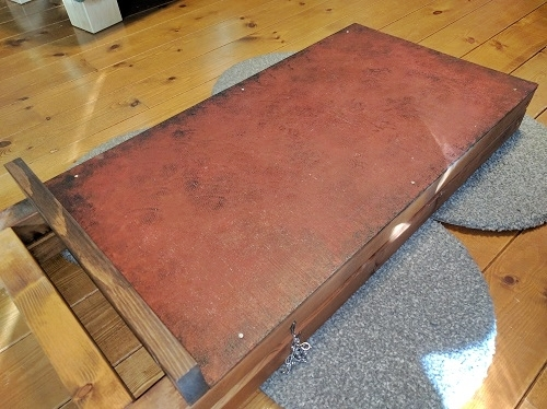 DIY看板のステンシル施工