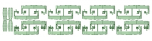 2600スカート 8編成分_ホロ土台【武蔵模型工房E38080Nゲージ 鉄道模型】2_20170723115510580_l