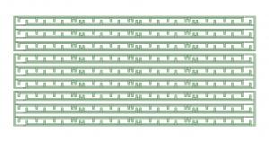 KD26-26 2600系ランボード9両分【武蔵模型工房 Nゲージ 鉄道模型】