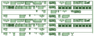 HK50-03 5001F 8連床下機器【武蔵模型工房 Nゲージ 鉄道模型】