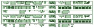 HK50-04 5001F 6連床下機器【武蔵模型工房 Nゲージ 鉄道模型】
