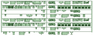 HK50-05 5002F 8連床下機器【武蔵模型工房 Nゲージ 鉄道模型】