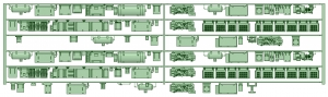 HK50-06 5002F 6連床下機器【武蔵模型工房 Nゲージ 鉄道模型】