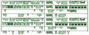 HK50-07 5004F 8連床下機器【武蔵模型工房 Nゲージ 鉄道模型】