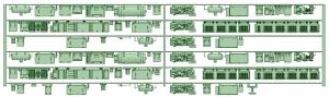 HK50-08 5004F 6連床下機器【武蔵模型工房 Nゲージ 鉄道模型】