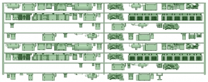 HK50-09 5006F 8連床下機器【武蔵模型工房 Nゲージ 鉄道模型】