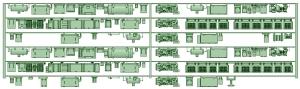 HK50-10 5006F 6連床下機器【武蔵模型工房 Nゲージ 鉄道模型】