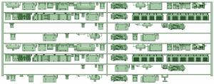 HK50-15 5012F 8連床下機器【武蔵模型工房 Nゲージ 鉄道模型】