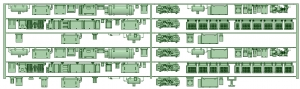 HK50-16 5012F 6連床下機器【武蔵模型工房 Nゲージ 鉄道模型】