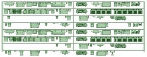 HK50-11 5008F 8連床下機器【武蔵模型工房 Nゲージ 鉄道模型】 - コピー