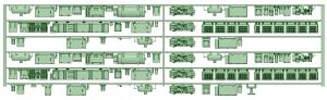 HK50-12 5008F 6連床下機器【武蔵模型工房 Nゲージ 鉄道模型】 - コピー