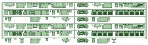 HK50-14 5010F 6連床下機器【武蔵模型工房 Nゲージ 鉄道模型】