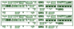 HK50-13 5010F 8連床下機器【武蔵模型工房 Nゲージ 鉄道模型】