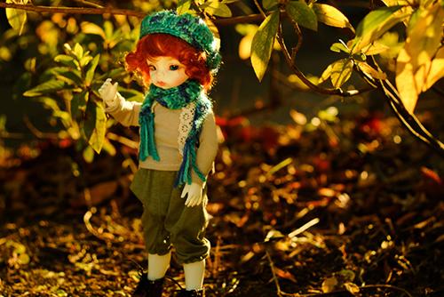 DOLLZONE・Ginoのテオに森ボーイなお洋服を着せました。