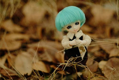 PARABOX・プチフェアリーをメイクした、ふうちゃん。カッコイイお洋服に着替えて、秋枯れの野原へおでかけです。