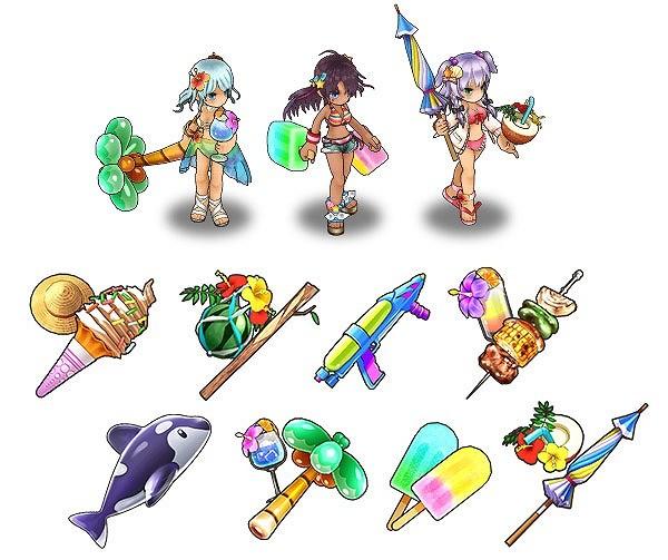 基本プレイ無料のブラウザファンタジーRPG『かんぱに☆ガールズ』 「かんぱに☆ドキッ水着だらけの無人島」を開催したよ~