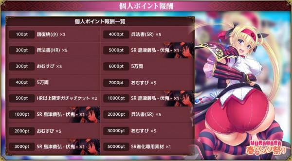 基本プレイ無料のブラウザ戦国王道RPG 『戦国MURAMASA乱』 「春にパンツ祭り」を開催するよ~!限定装備「パンツ」を手に入れよう~